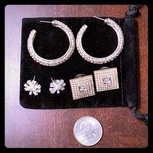 Sparkle it up earrings- set of 3